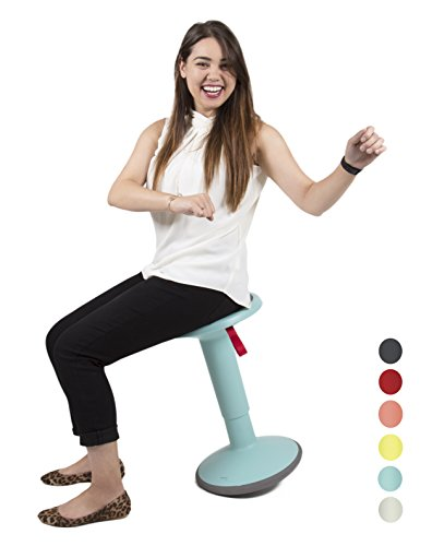 - Stand Steady Active Motion Stool   Wobble While You Work!   Premium Ergonomic Stool/Ergonomic Office Chair for Comfort & Back Pain Relief - Made in Germany (Teal)