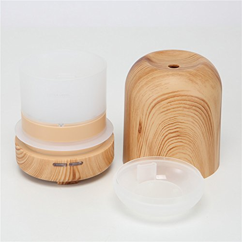 TRADE 100ML Ultrasonic Timer Settings and Waterless Auto Shut-off Protection Air Purification Spray Circle Column Shallow Wood Grain Humidifier,Suitable for Your Home and Office by TRADE® (Image #7)