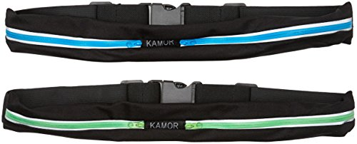Kamor (2 Pack) Running Belts/Exercise Runner Belt/Waist Packs for Apple iPhone 6, 6 plus, 5, 5s, 5c, Samsung Galaxy ï¼ for Men, Women during Workouts, Cycling, Hiking, Walking, Running, Fitness