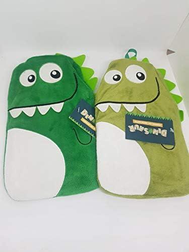 Wärmflasche, Fleece, Dinosaurier, 1 l, Grün