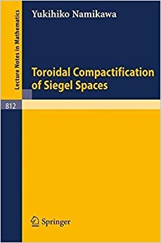 Book Toroidal Compactification of Siegel Spaces (Lecture Notes in Mathematics) by Y. Namikawa (1980-09-09)