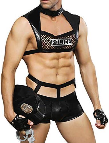 WSLCN Erotische Kostüme für Herren Sexy Nachtclub Roleplay Dessous Sets