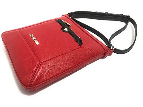 Love Moschino , Sac bandoulière pour femme rouge Rouge/noir