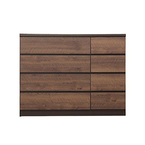 ローチェスト 完成品 幅120cm4段 木製 北欧風 国産品 日本製 (ブラウン) B079ZS5P6K ブラウン ブラウン