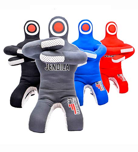 Grappling Dummy MMA Jiu Jitsu - Grappling Wrestling Dummy - Made from Durable Canvas Fabrics - MMA Dummy for Multiple Drills UNFILLED (Grey, 66'')