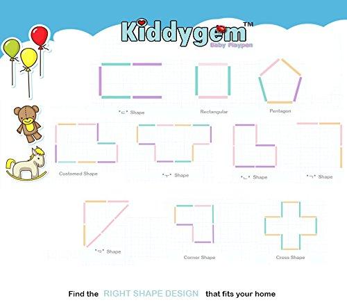 Kiddygem M7 baby Playpen Playard, White, Extra Tall by KiddyGem (Image #6)