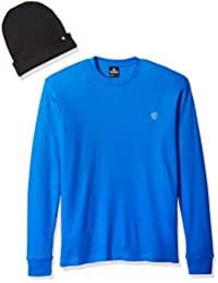 Men's Long Sleeve Basic Thermal and Beanie Combo Set