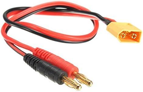 35 cm XT60 Connecteur mâle à fiche banane 4 mm Batterie Câble Chargeur Plomb RC UK