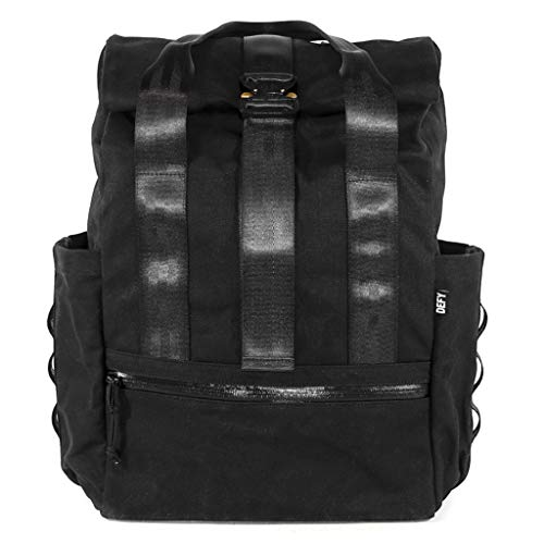 VerBockel Rolltop Backpack Black Wax Canvas