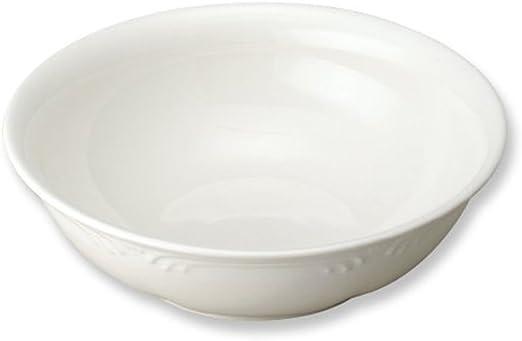 Large White Filigree Pasta Bowls Set Of 4 New. Stoneware 9 Inch