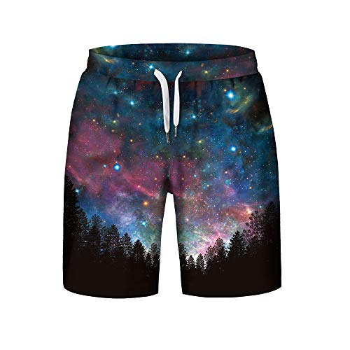 (iCODOD Men's Boardshorts,Summer Swim Trunks Casual Plus Size Surf Shorts 3D Printed Beach Shorts Pants(Multicolor,3XL))