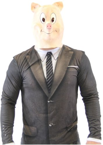 Pig Costume Adult Latex Mask ()