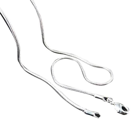 Clearance!! WYTong Fashion Mens Womens Chain Necklace Snake Chain Jewelry 16-24inches (Silver, 16) ()