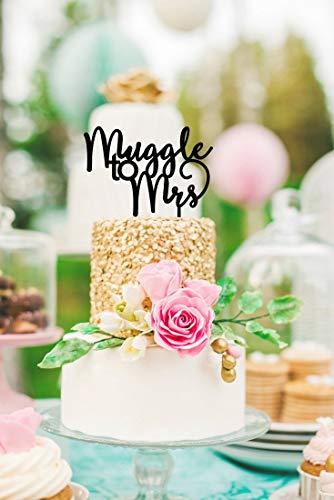 Harry Potter Cake Topper Muggle to Mrs Cake Topper Harry Potter Bridal Shower Muggle Cake Topper Harry Potter Decorations Muggle to ()