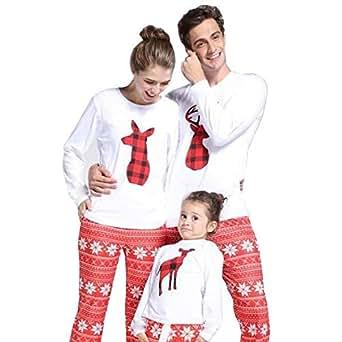 Amazon.com: Hunputa 2018 - Conjunto de pijamas familiares ...
