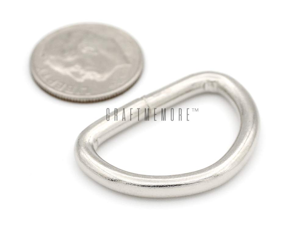 1 Inch, Gunmetal CRAFTMEmore D-Ring Findings Metal Non Welded D Rings for Belts Bags Landyard Leathercraft Available 4 Colors 3//4 /& 1 Inch Pack of 20