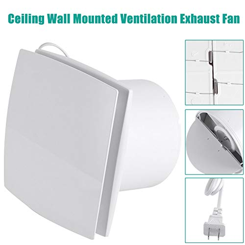 Ceiling Wall Mounted Exhaust Fan,Acogedor 22W 220V Ceiling Ventilation Exhaust Fan,Super Silent, Strong Exhaust, Home Bathroom Kitchen Garage Air Vent Ventilation-Chinese Standard Plug (220v Bathroom Exhaust Fan)