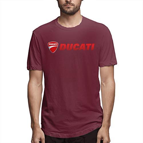 (RuigeHongke Ducati Motor Logo T Shirts for Adult Burgundy 35)