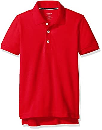 French Toast Little Boys' Short Sleeve Pique Polo, Red, X-Small/4/5