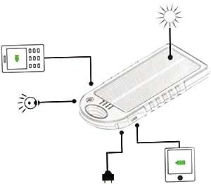 Yellow and Black 5000mAh Portable Waterproof Solar Charger Dual USB External Battery Power Bank