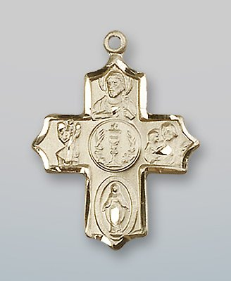 14kt Gold 4-Way Medal ()