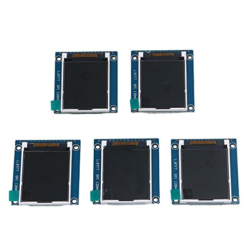 Mxfans 5 Piece 1.8'' Serial LCD Module Display 262K Screen PCB Adapter 3.4x4.7cm Cover by Mxfans
