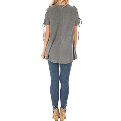 SANFASHION Donna Ballerine SANFASHION Damen Bekleidung Shirt155 Verde HwIqrTxIXO