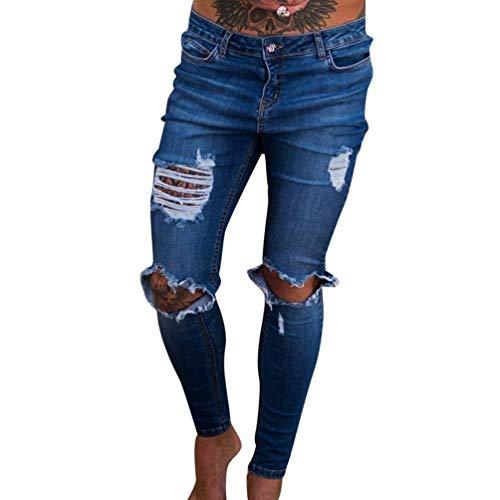 Della Distrutti Chiusura Mode Abbottonatura Etero Lavato Uomini Marca Jeans Pantaloni Slim Metà Dunkelblau Vita Bolawoo Beggar Gli Di qRaEzE