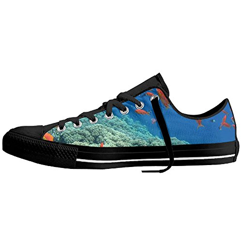 Sea Goldfish 1 Canvas Lace Up Plimsoll Flat Gym Shoes Trainers Sneakers 40