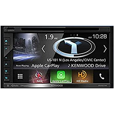 Kenwood DNX574S Double DIN Navigation In-Dash DVD/CD/AM/FM Car Stereo w/ 6.8 Touch Screen with Built-in HD Radio and Bluetooth