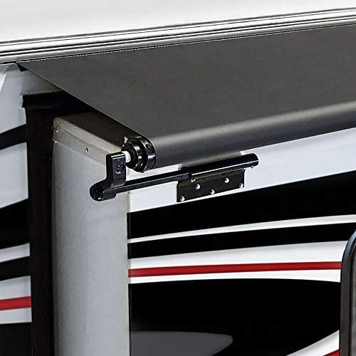 """RecPro RV Slide Out Awning Topper 110/"""" White Slideout Fabric Only 46/"""" Length"""