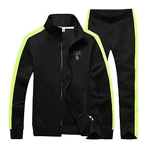 Sun Lorence Men's Athletic Full Zip Fleece Tracksuit Sports Sets Casual Sweat Suit