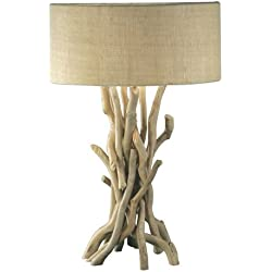 Modern Home Nautical Driftwood Table Lamp, Brown