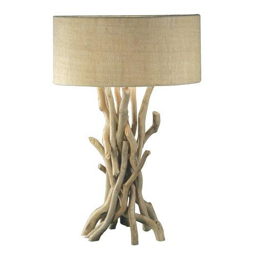 Modern Home Nautical Driftwood Table Lamp, Brown ()