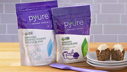 Pyure Organic Powdered Confectioners & Granulated Stevia Sweetener Blend, Baking Bundle, Sugar Substitute, 16 Ounce (Pack of 2)