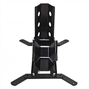 Best Choice Products 1000 Lb Adjustable Motorcycle Wheel Chock Stand Trailer Mount Hold Bike Stand