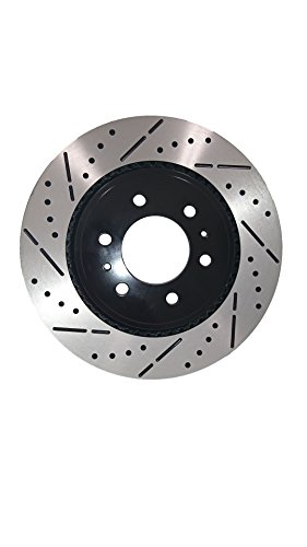 Front Premium E-Coat Drill&Slot Brake Rotors Ceramic Pad Fit 2008-2015 GMC Yukon