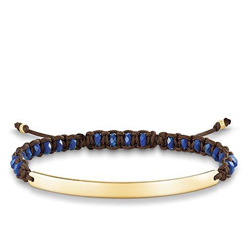 "Thomas Sabo Love Bridge, Femmes bracelet ""or"", Argent sterling 925 ; plaqué or jaune 18 carats, nylon"