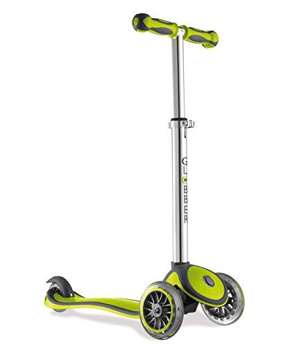 Globber Kinder Roller Free 3-Wheels Scooter BI-Inject, Grün-Grau, 373