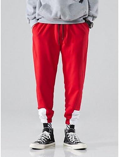 l YYNANKU TT/&Mens Pants Pantalon Chino Micro-/élastique /à Taille Normale pour Hommes Pantalon en Polyester//Coton