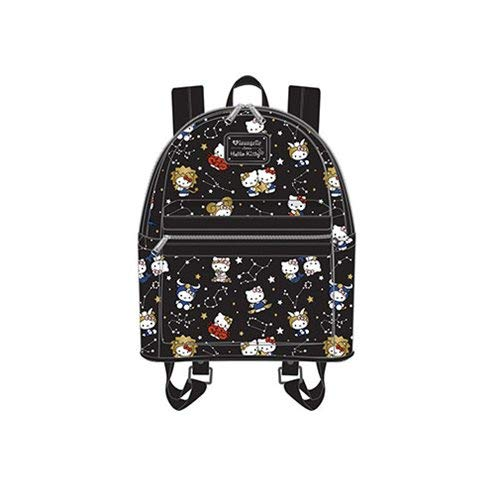 Loungefly Hello Kitty Zodiac Print Mini Backpack (One_Size, Black)