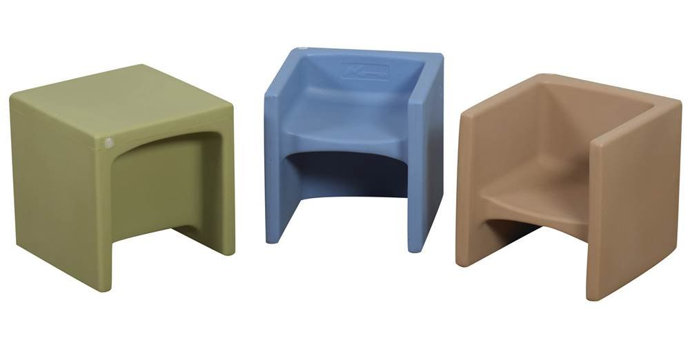Children'S Factory Cube Chair Himmel Blue