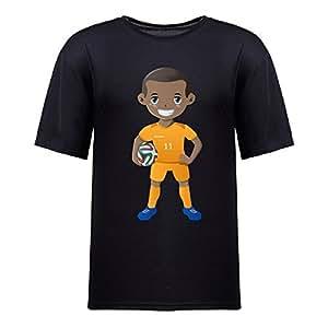 Custom Mens Cotton Short Sleeve Round Neck T-shirt,2014 Brazil FIFA World Cup UP71 black