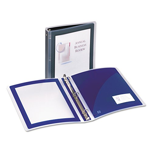 Avery Flexi-View 1 Inch Binder, Black, 1 Binder (17686)