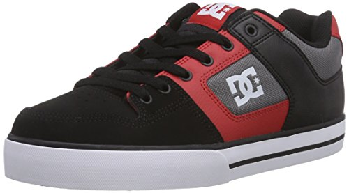 DC Shoes Pure M Shoe Bat, Sneaker Uomo Multicolore (Mehrfarbig (Black/Athletic Red Bat))