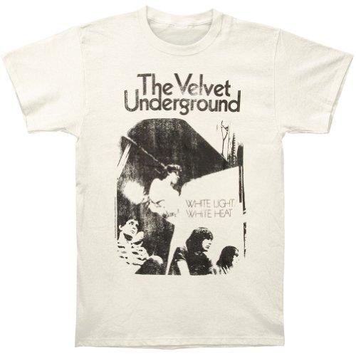 Velvet Underground Mens White Light/White Heat Slim Fit T-shirt Vintage