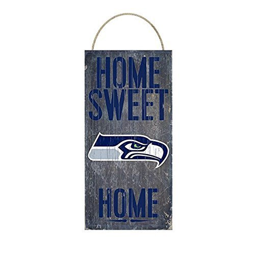 Seattle Decor Home Seahawks - Seattle Seahawks Home Sweet Home Distressed Vintage Sign for Football Sports Fan Wall Decor CHOOSE YOUR TEAM!!! (Seahawks)