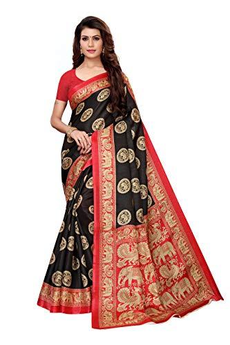 Jaanvi Fashion Women #39;s Banarasi Art Silk Printed Saree