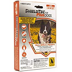 ShieldTec Flea, Tick, and Mosquito Prevention for Dogs, Large 34-66 lbs, 4 Months, 4 Doses