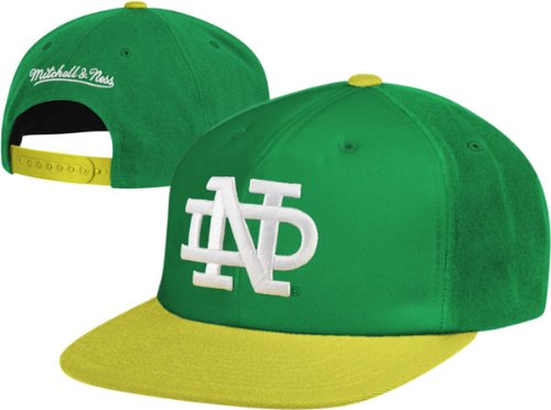 72cafa675a0 Image Unavailable. Image not available for. Color  Mitchell   Ness Notre  Dame Fighting Irish XL Logo 2 Tone Snapback